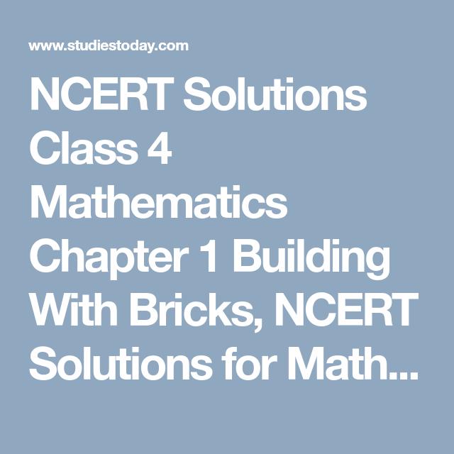 NCERT Solutions Class 4 Mathematics Chapter 1 Building With Bricks ...