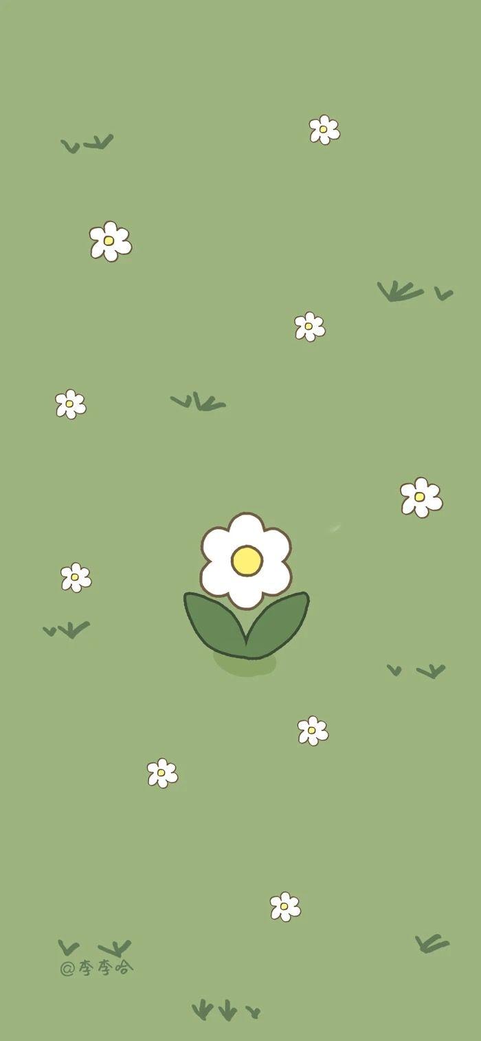 Pin oleh WANDA 🖤 di Cute wallpaper   Wallpaper hijau, Kartu lucu ...