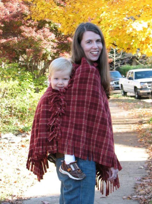 No Sew Babywearing Fleece Poncho With Fringe Revised Baby