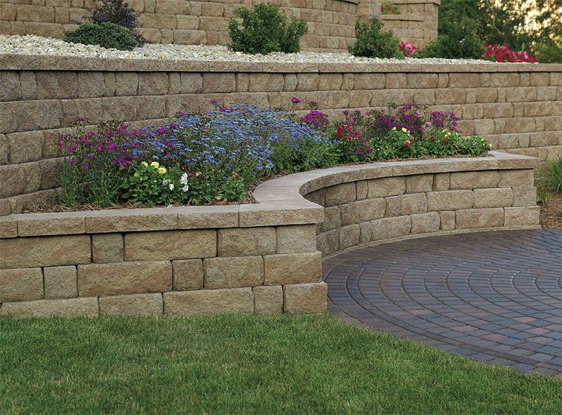 Retaining Wall Designs Ideas fantastic wood retaining wall design decorating ideas images in landscape contemporary design ideas Unilock Olde Quarry Retaining Wall Unilock Stonehenge Paver Landscape Walls Pinterest Stonehenge
