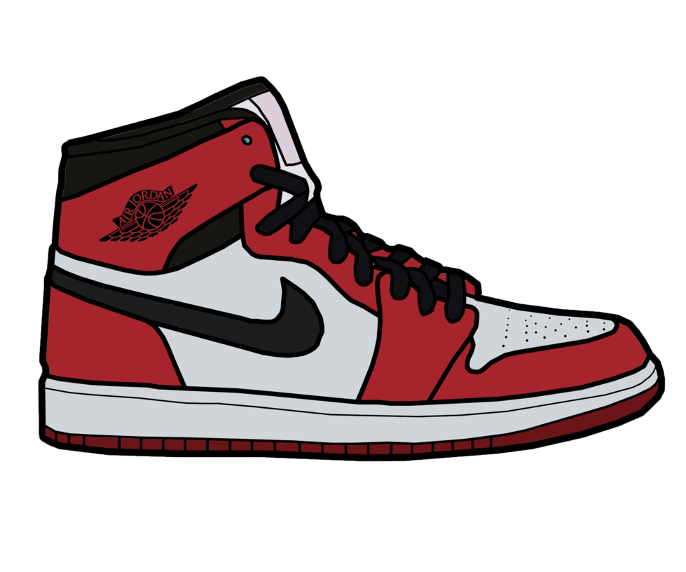 Image result for cartoon of white jordan 1