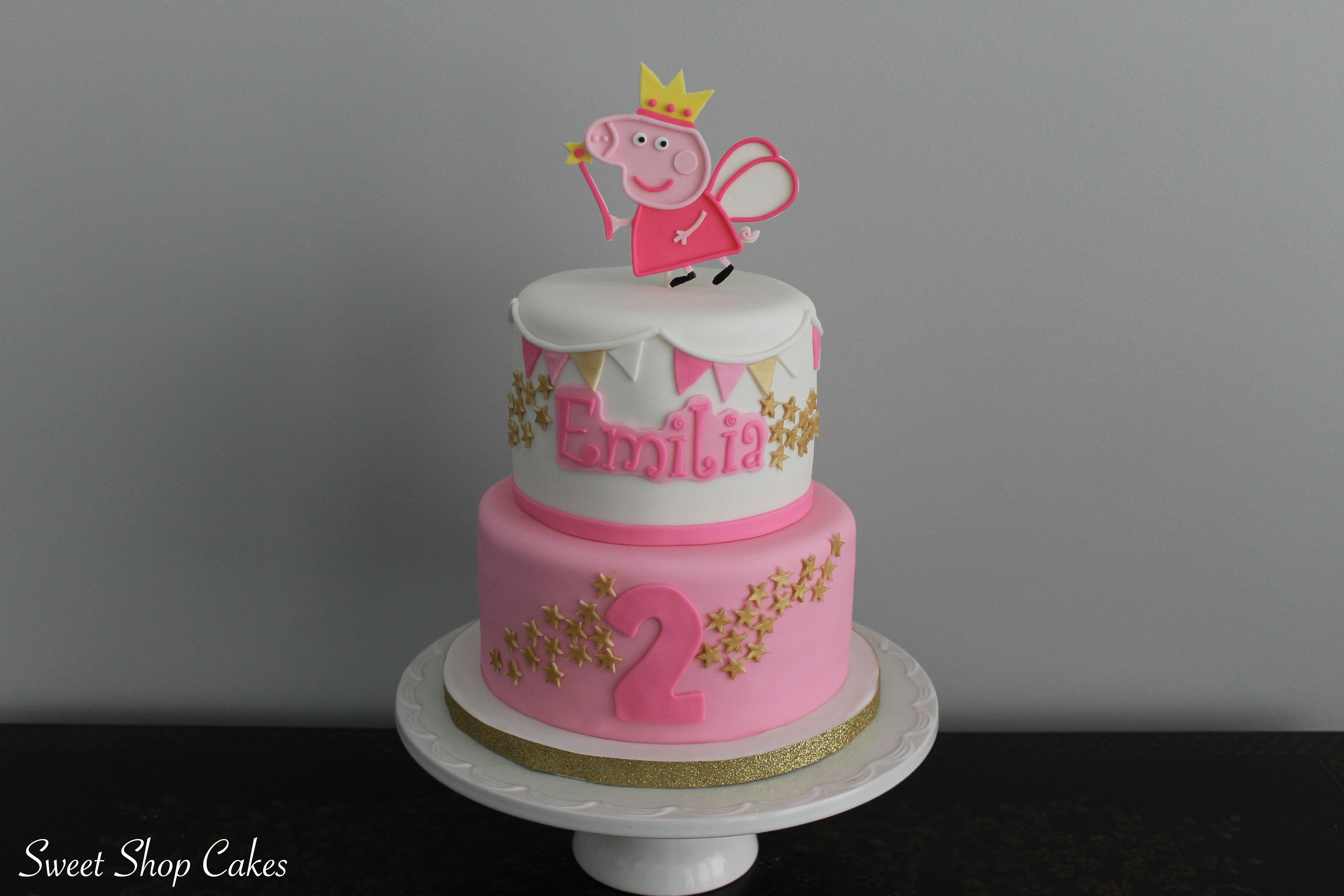 Peppa Pig Fairy Birthday Cake With Images Peppa Pig Birthday