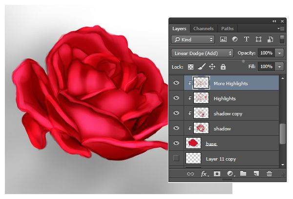 How to add highlight in photoshop