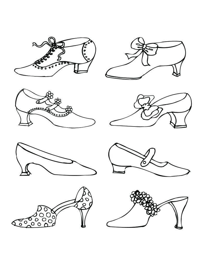 Vintage Victorian Shoes I Drew In Ink Pen Victorian Shoes Embroidery Patterns Hand Embroidery