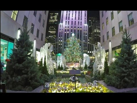 4k New Christmas In York City Nyc 2017