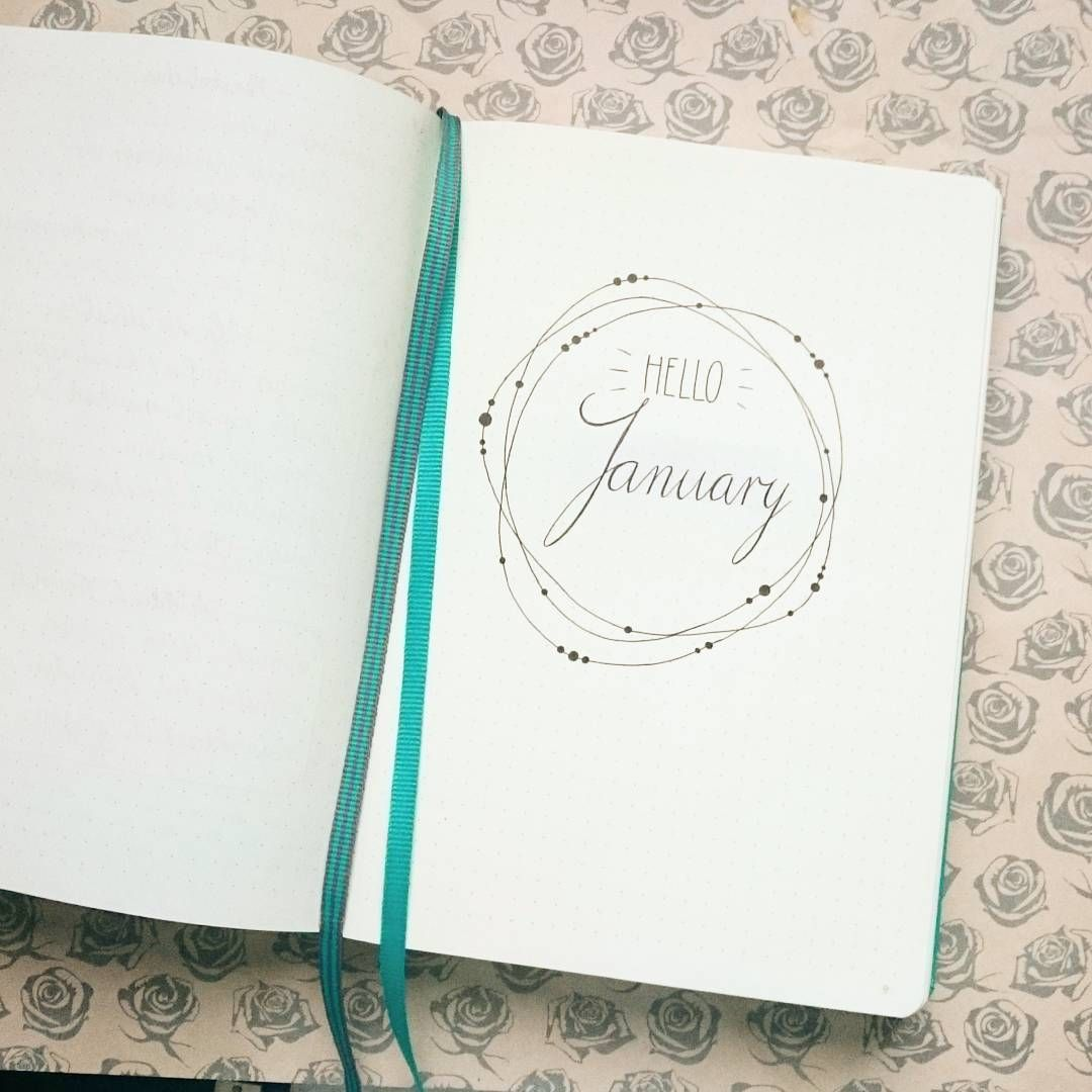 "Hime on Instagram: ""Hello January <3 #leuchtturm1917 #bujo #bujo2017 #bulletjournal #journal #january #minimalism"""
