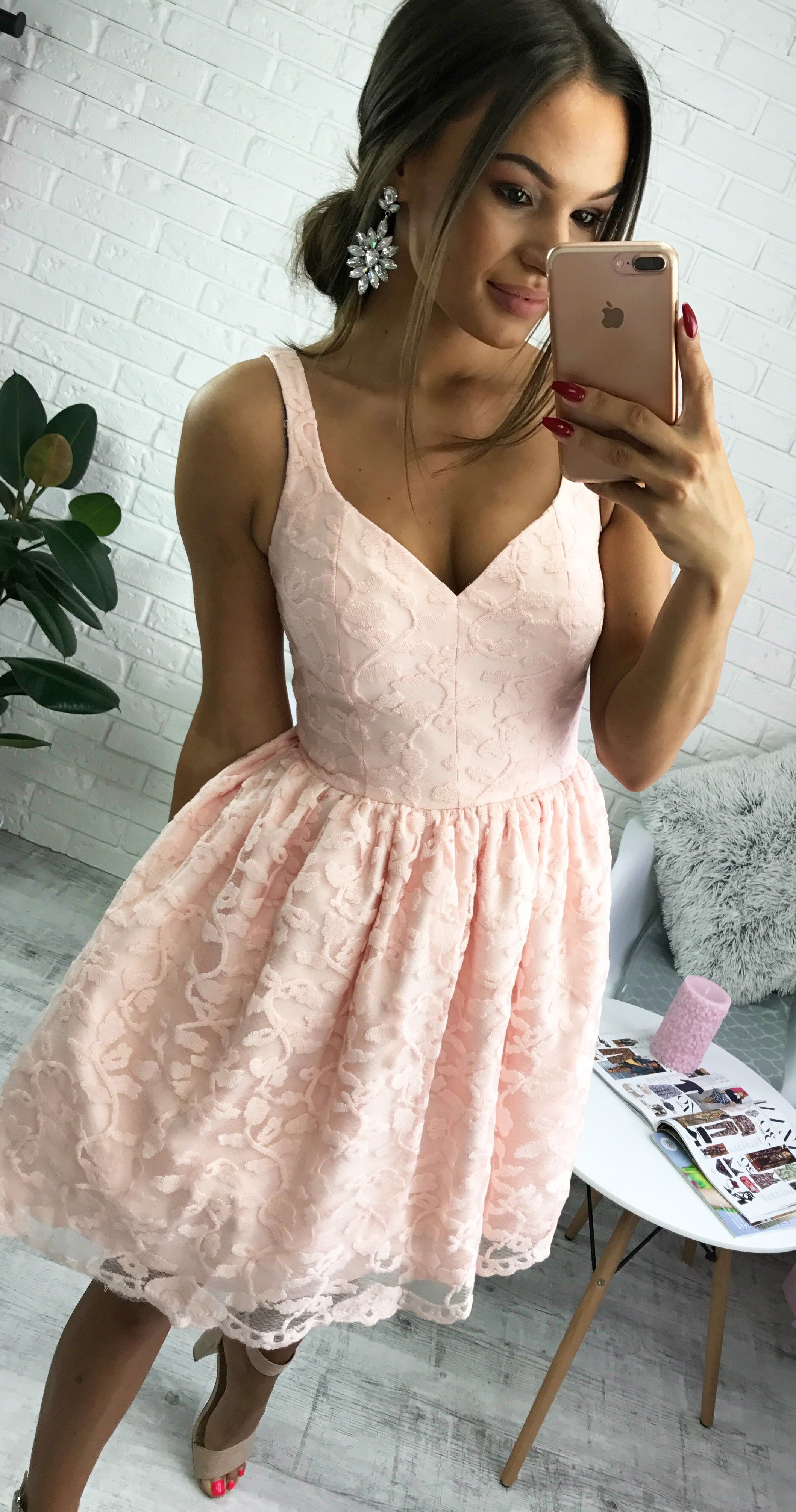 ede7c4acc4 Pudrowo- różowa sukienka Marcelline. Idealna sukienka na wesele lub  świadkowych. Pastel pink dress  promcja  sukienka  ślub   poprawiny   wyprzedaz  pink ...