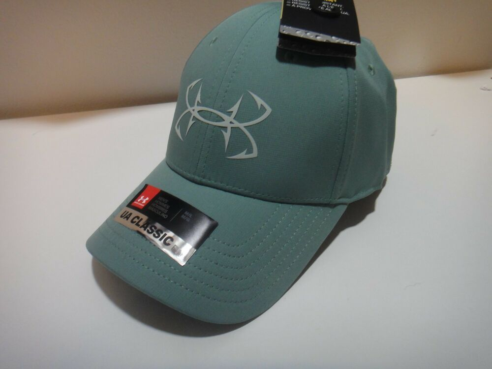 4512e24c12a Under Armour Mens Fish HooK Strom Water Resistant Classic Fit Hat Size M L   Underarmour  BaseballCap