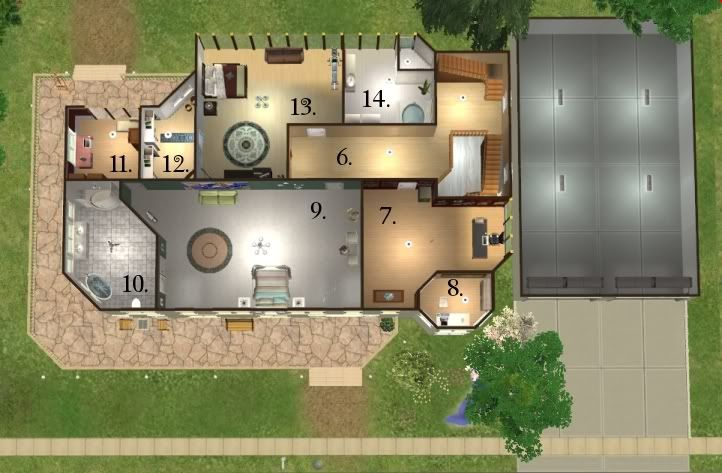 Mod The Sims The Cullen House From The Twilight Books House Layouts Twilight House House