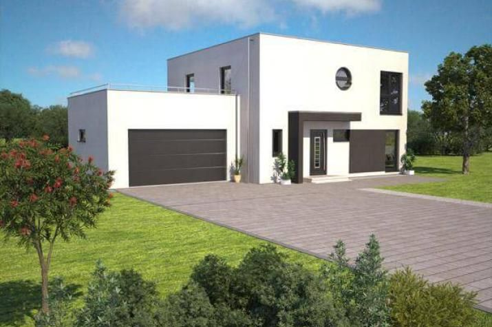 Jk Traumhaus individuell geplant kompaktes bauhaus mit garage und