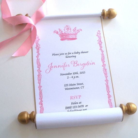 princess invitations Birthday ideas Pinterest – Princess Scroll Birthday Invitations