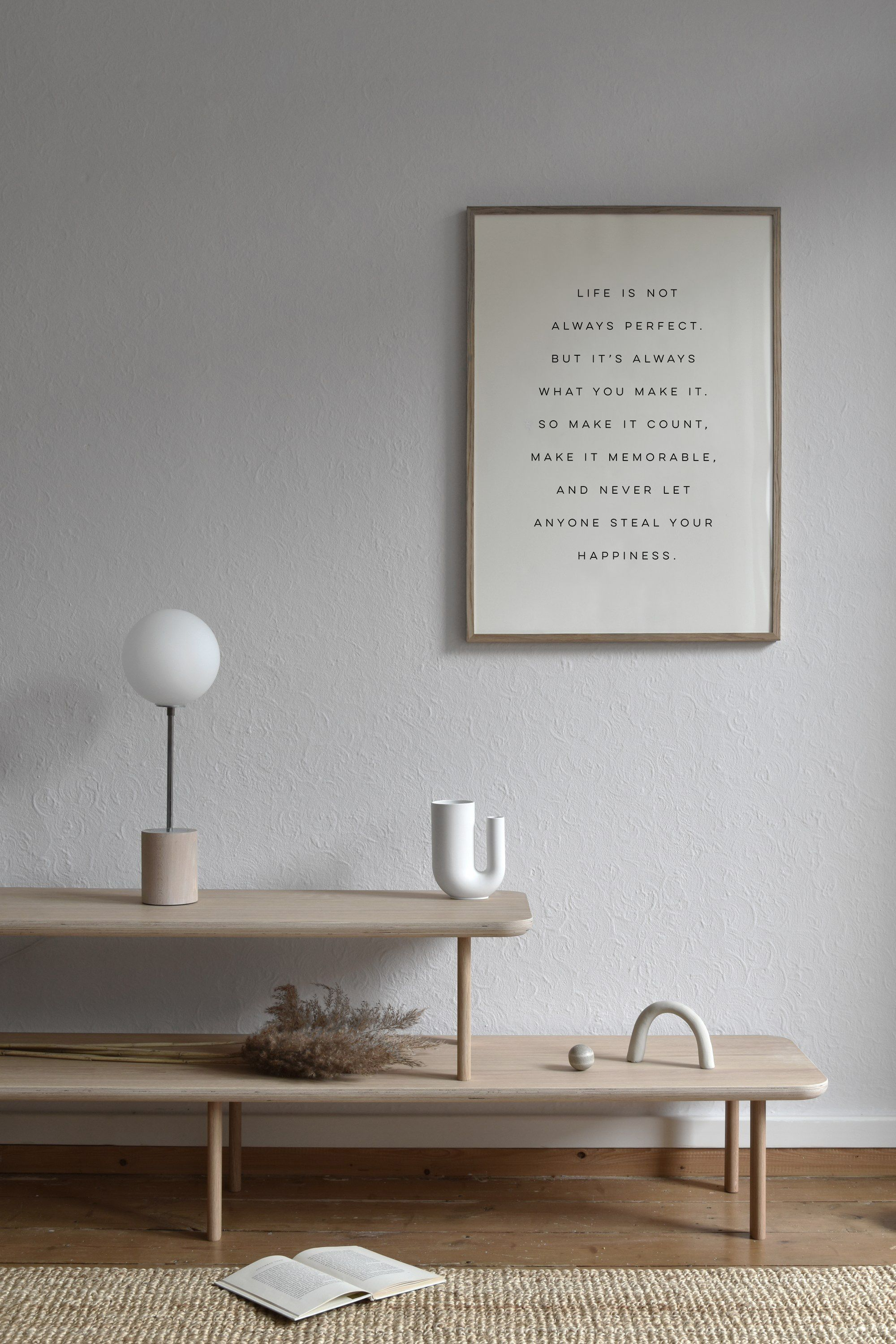 Make It Count Print Life Is Not Always Perfect Poster Make Etsy In 2020 Minimalist Decor Minimalism Interior Neutral Interiors