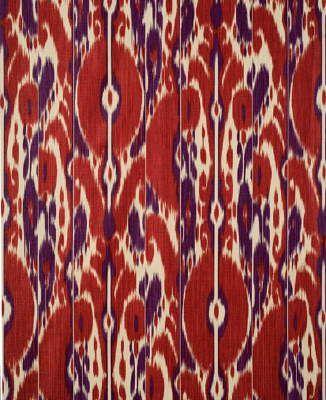 Bayadere Ikat in Scarlet/Plum from Brunschwig  Fils #fabric #linen