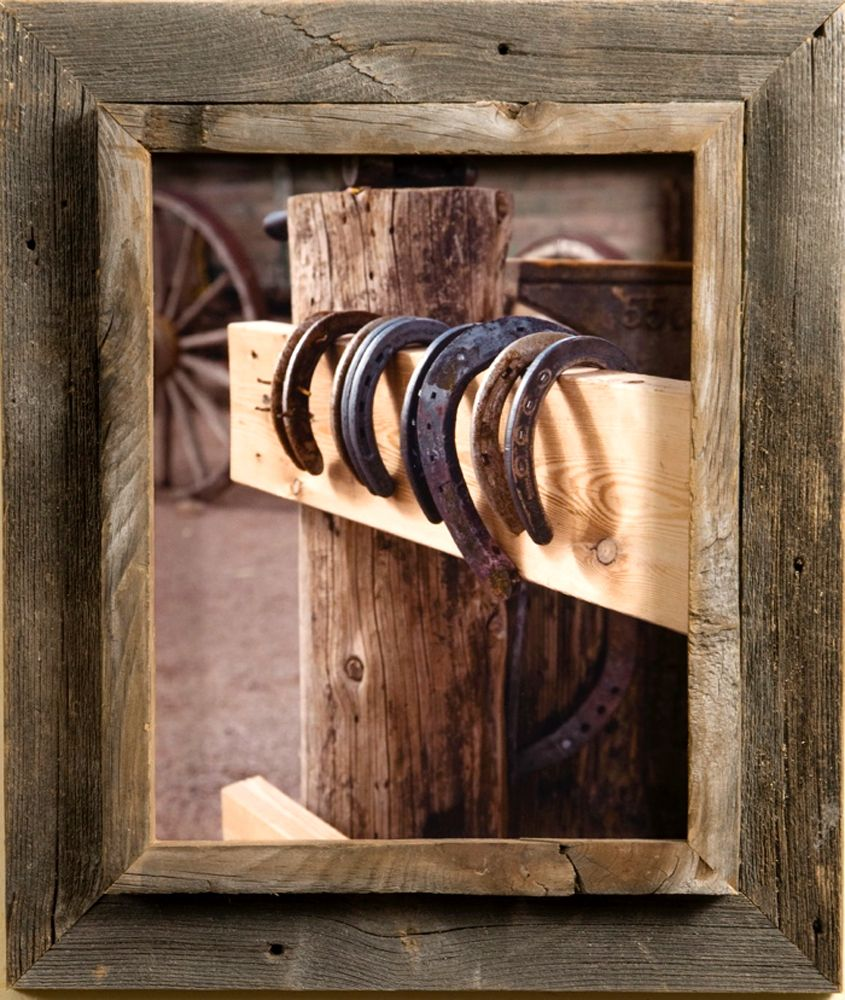 12x18 Western Picture Frame - Western Rustic Narrow Width 2.25 inch ...