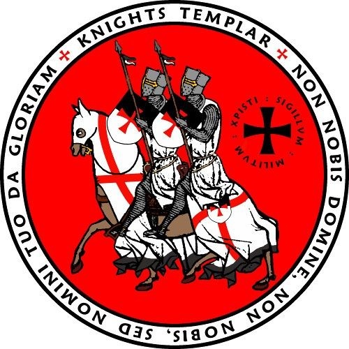 Features The Image Of Two Templar Knights Riding On One Horse The