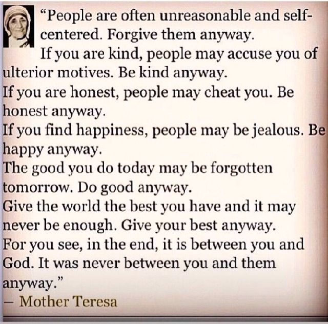 Mother Theresa quote  quotes  Pinterest  Mother theresa quotes, Mother ter...