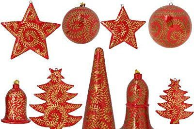 11 handmade christmas ornaments and home decor gold and red paper traditional christmas beautiful - Christmas Decorations Pinterest Handmade