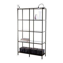 Ikea Vittsjo Black Brown Glass Shelf Unit Stacey Laumann