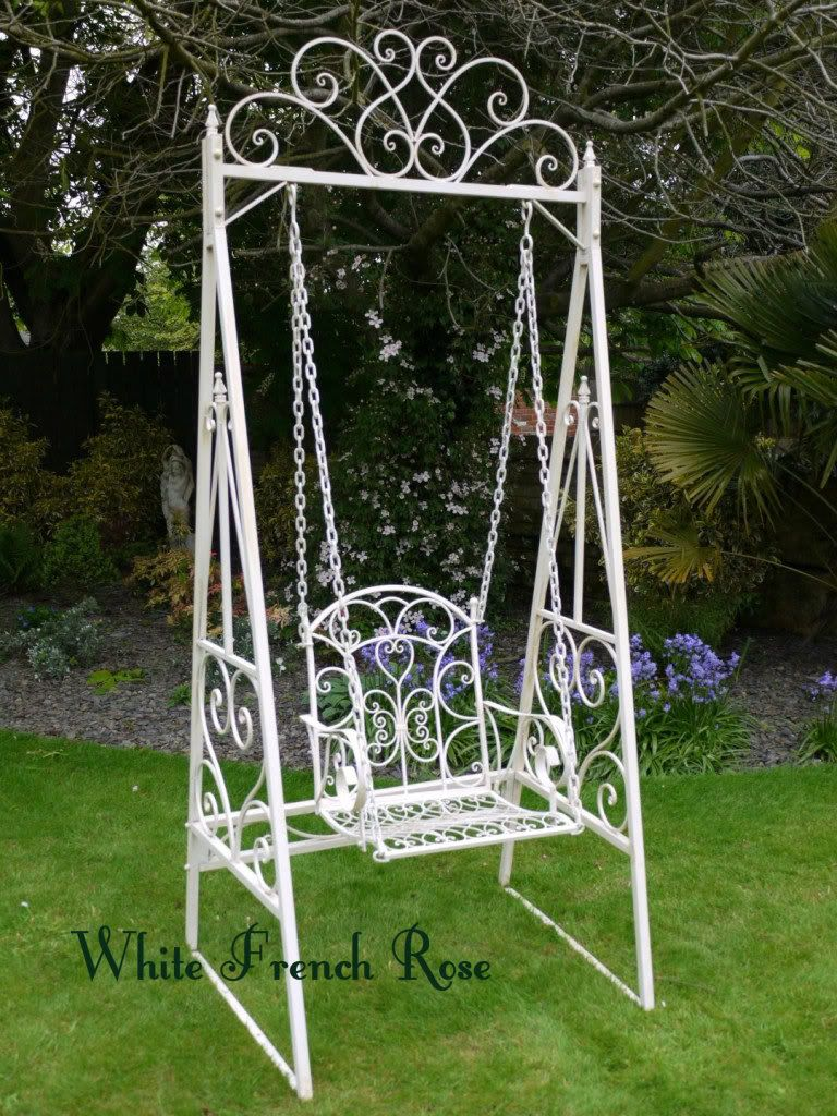 swing garden furniture swinging bench hammock swing seat outdoor swing white new
