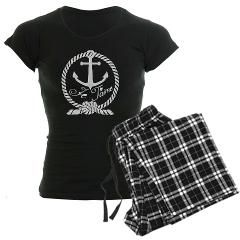 Je Taime in rope and anchor Pajamas> Je Taime in chalkboard Anchor and Rope design> Victory Ink Tshirts and Gifts