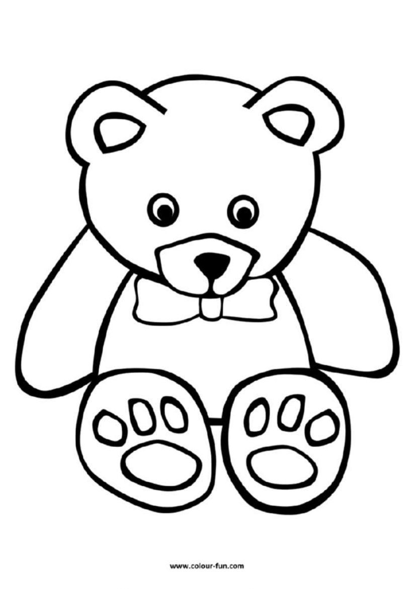 Animals Teddy Bear Coloring Pages Bear Coloring Pages Summer