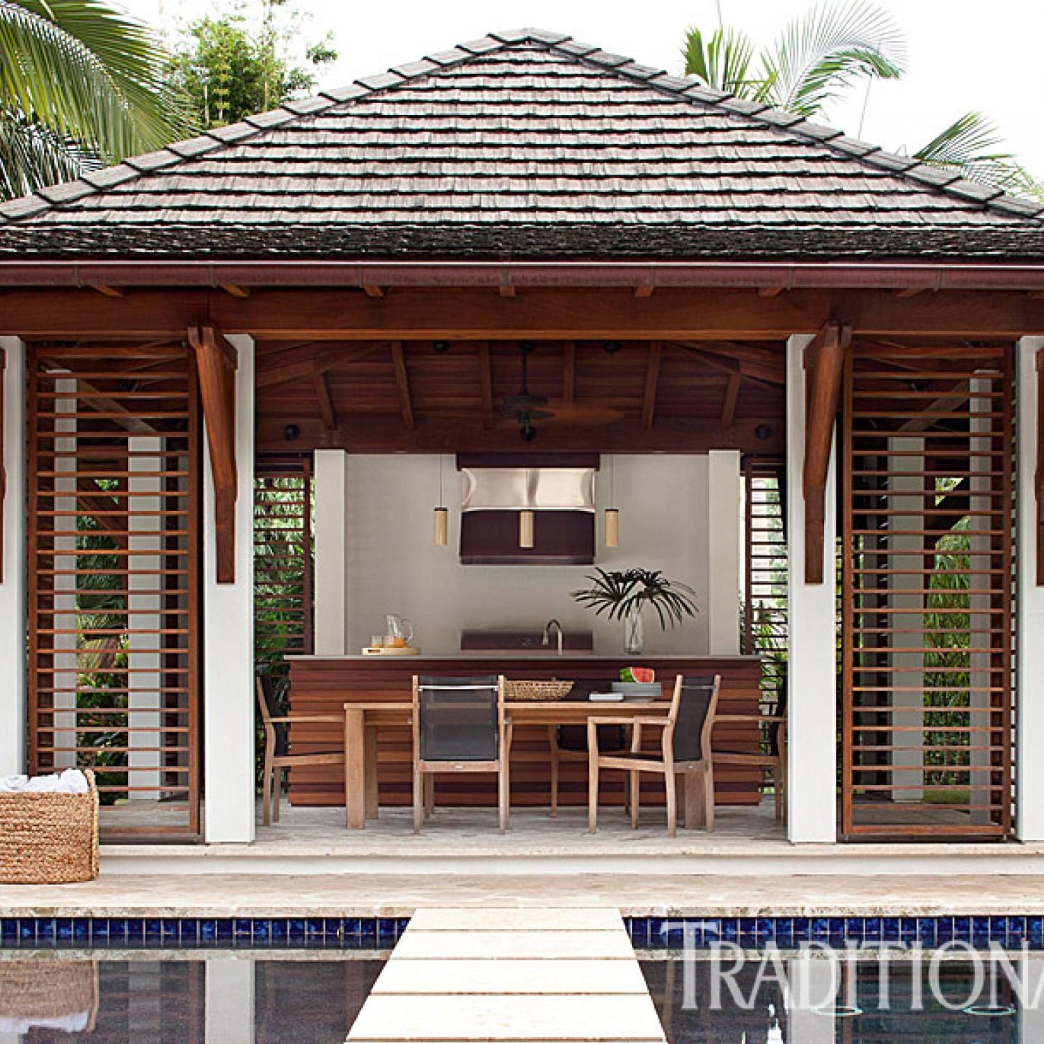 Stylish Family Friendly Home In Miami Bali Style Home Beautiful Homes Outdoor Kitchen Design