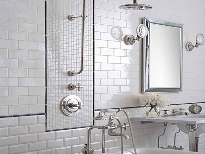 White Tiled Bathrooms bathroom white tiles - aralsa