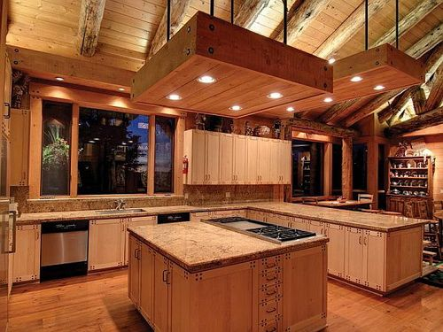 Amazing Pine Wood Kitchen Cabinets
