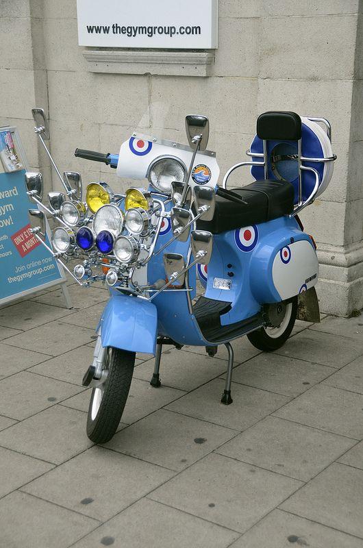 Brighton Mods | Scootering!!! | Mod scooter, Piaggio vespa