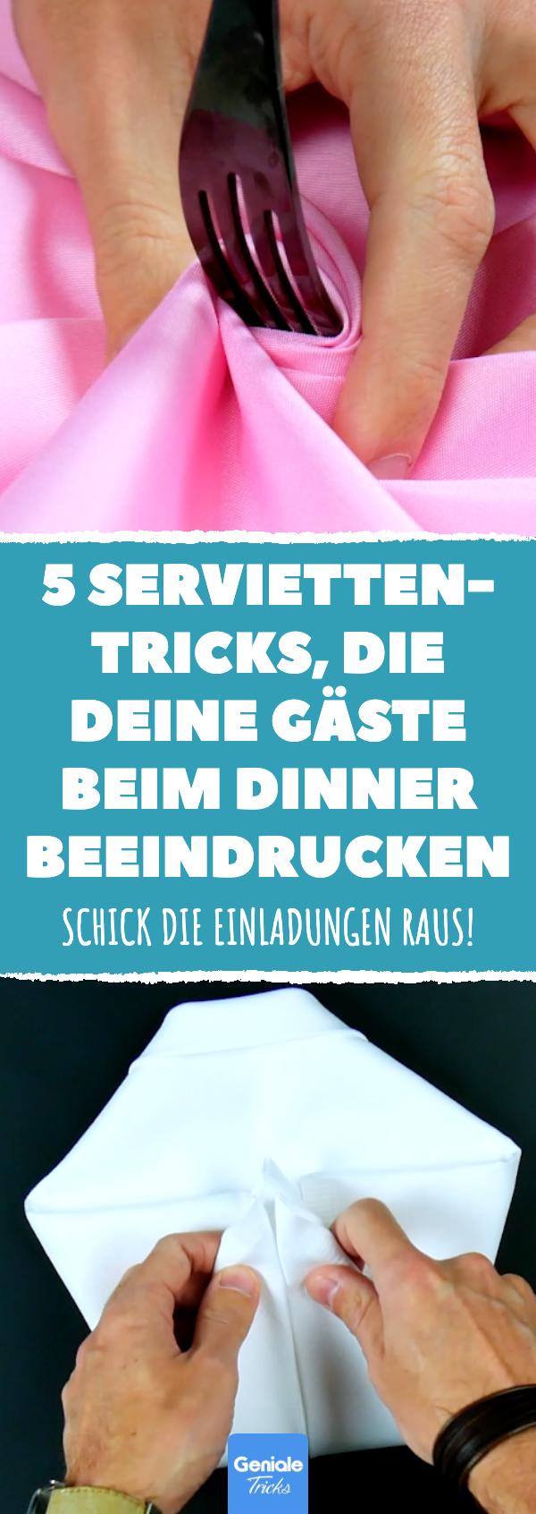 5 Servietten-Tricks, die deine Gäste beim Dinner beeindrucken