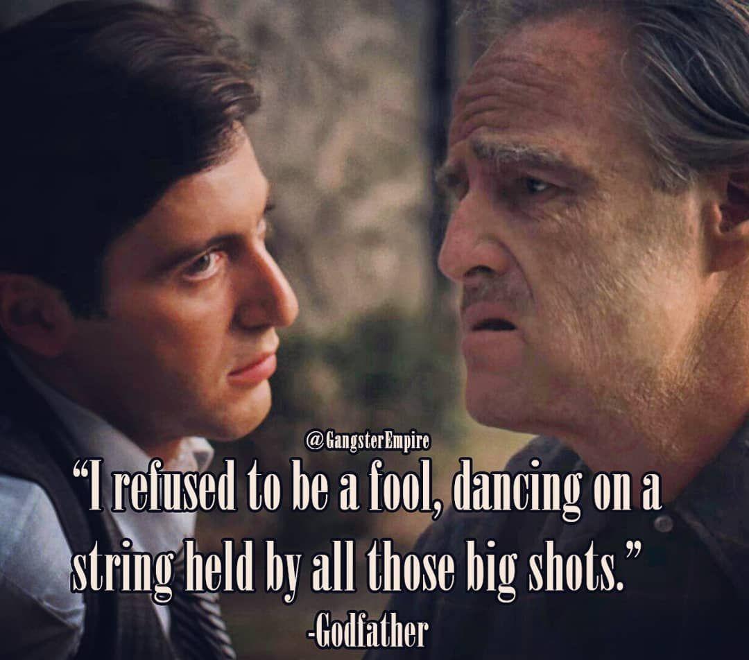 Don Vito Corleone advising Michael Corleone in The