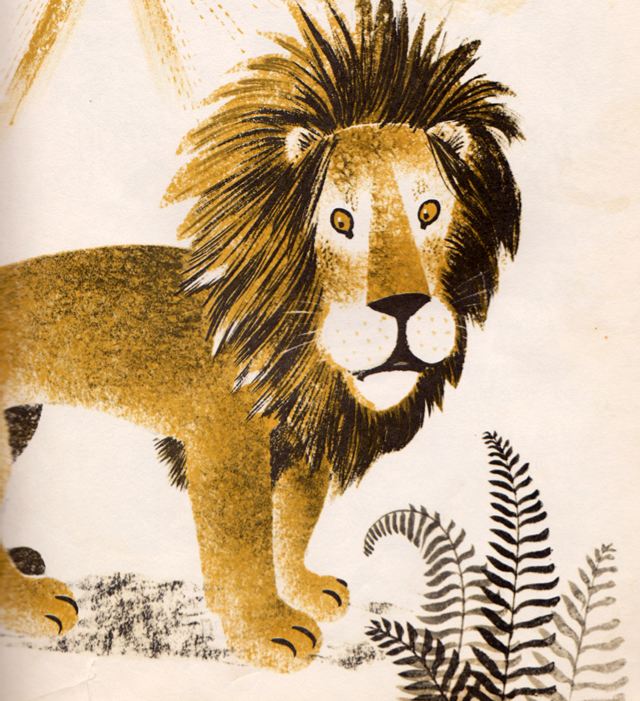 my vintage book collection (in blog form).: The Mouse and the Lion - illustrated by Leonard Weisgard