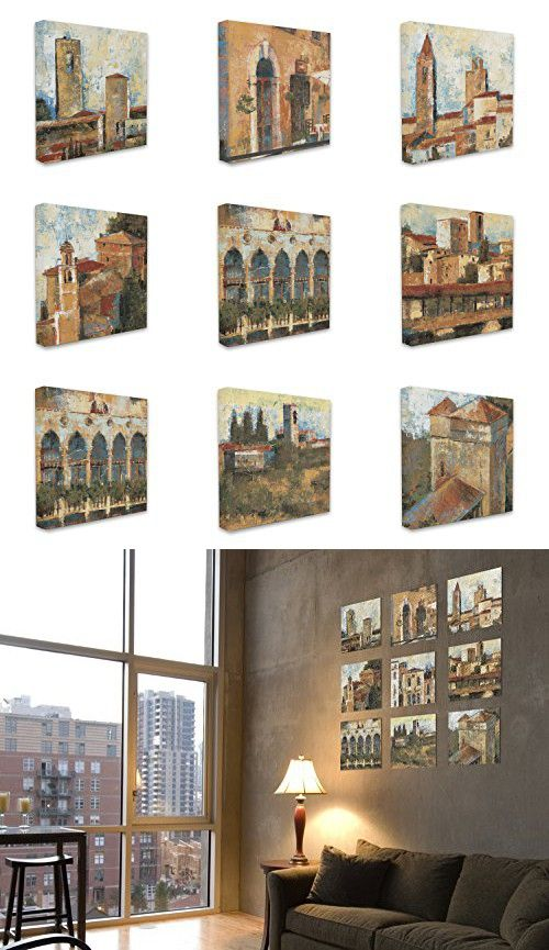 The Stupell Home Decor Collection Tuscan Architecture on Canvas, Set