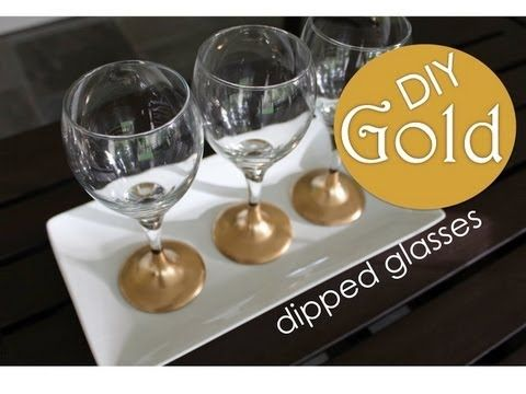 DIY Gold Revamped Glassware!