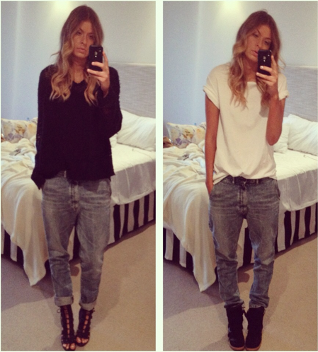 how to combinate boyfriend jeans