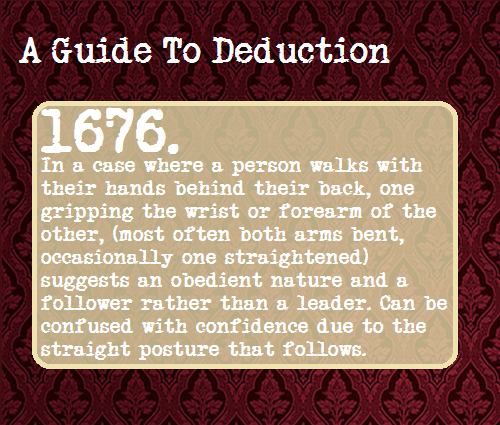 A Guide To Deduction note : it could also be a sign of a past in  :martial arts, military service, etc.