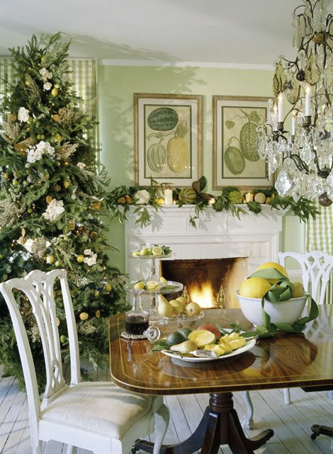 christmas tree trad home - Southern style Fresh White  Neutral