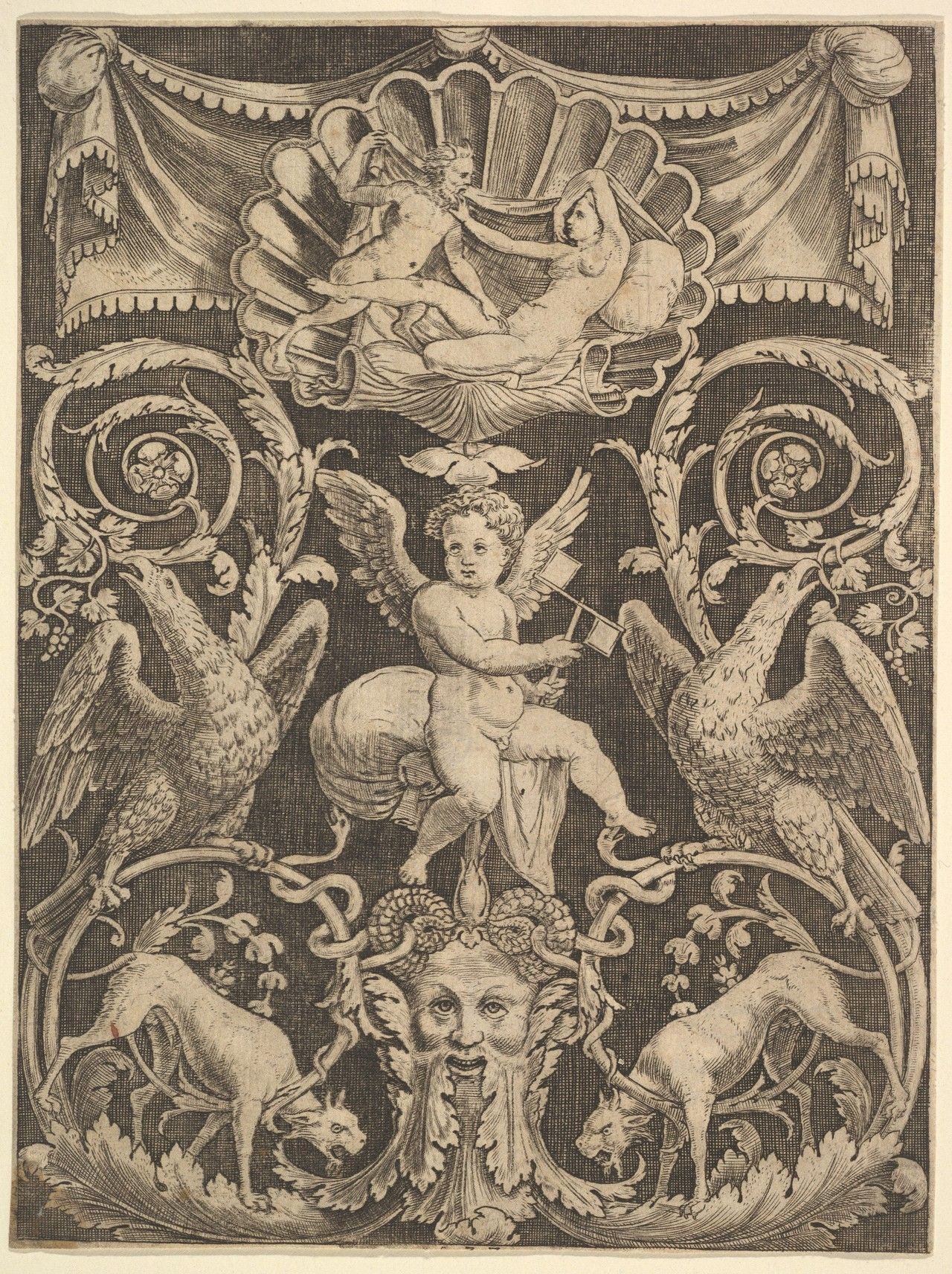 European Sculpture And Decorative Arts Met Drawings Prints A Panel Of Ornament With A Art Medieval Art European Sculpture