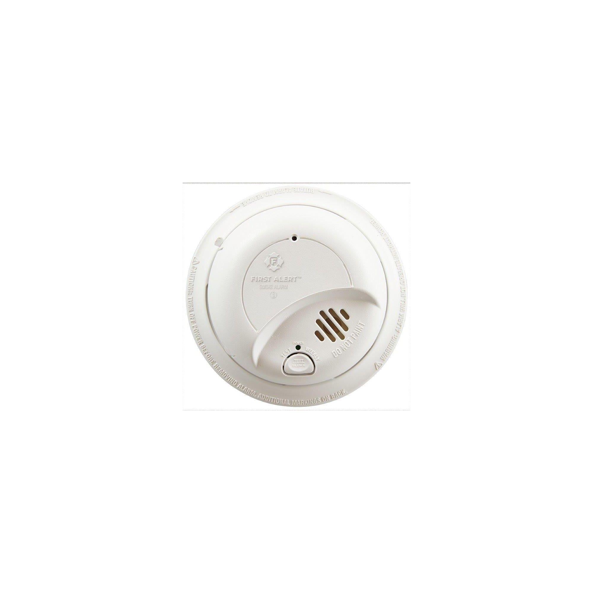 First Alert Replacement Hardwired Smoke Alarm Adult Unisex Smoke Alarms Mounting Brackets Smoke