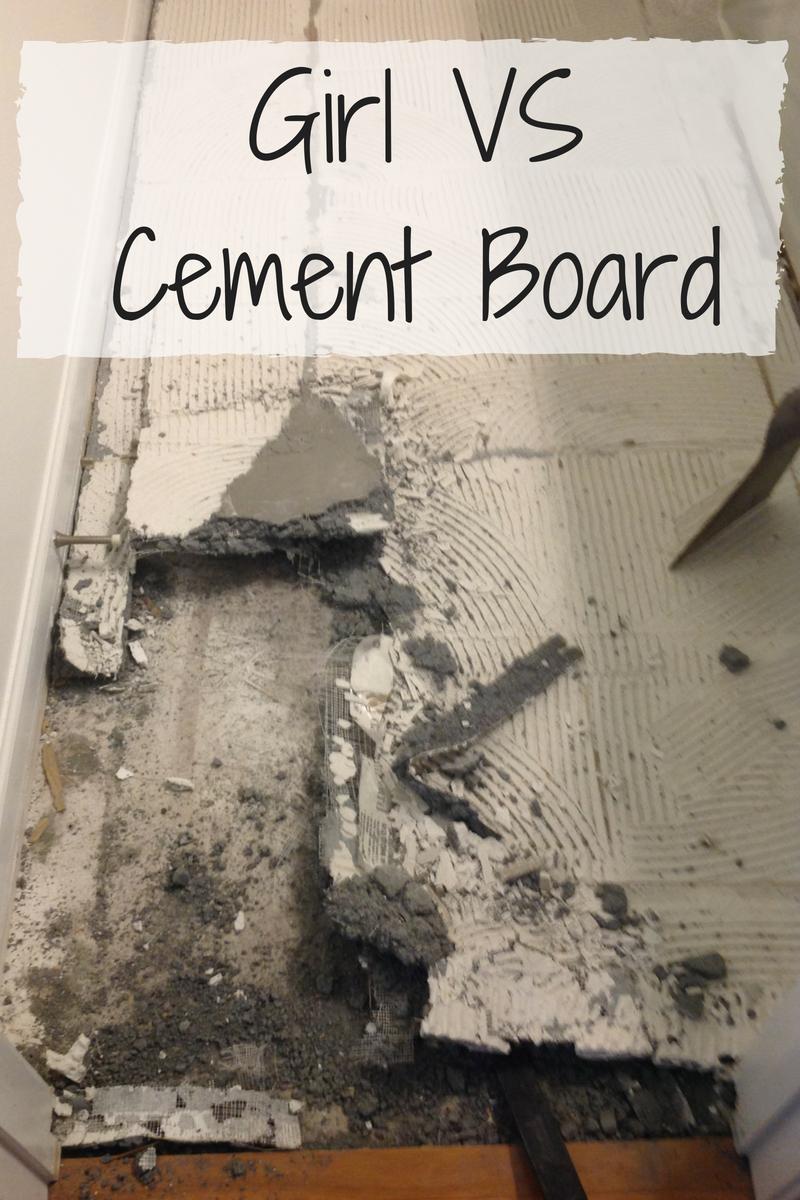 Girl Vs Cement Board Cement Tile Removal Removing Floor Tiles