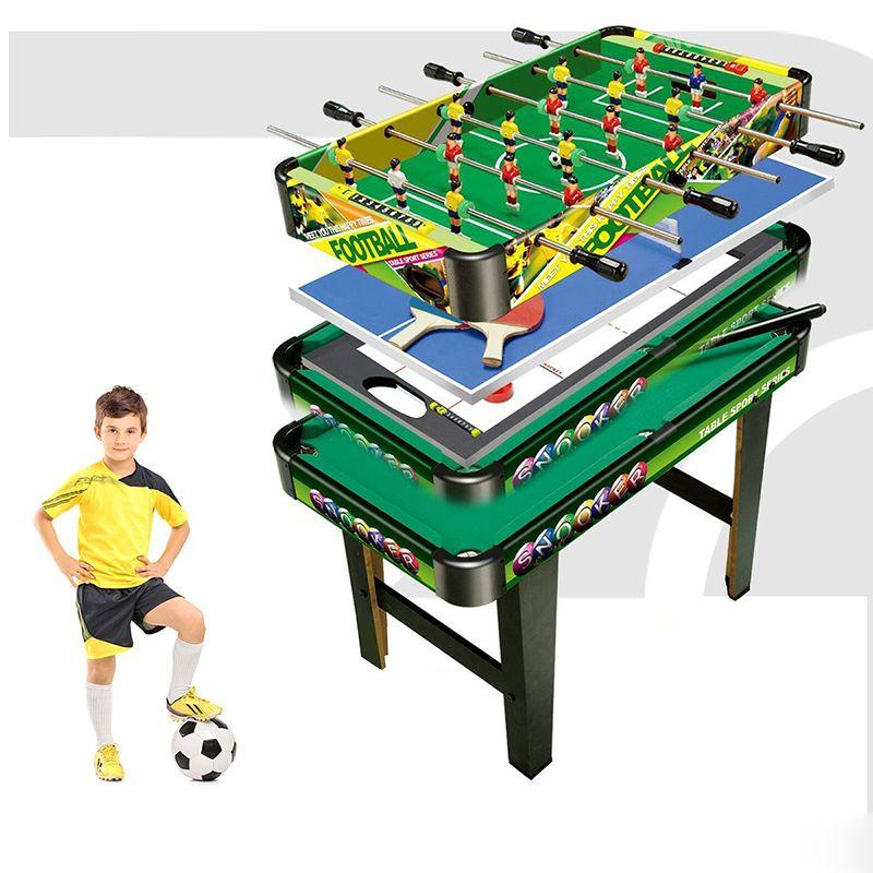 4 In 1 Folding Multi Games Table Air Hockey Pool Foosball Table Soccer Children Soccer Table Multi Game Table Air Hockey
