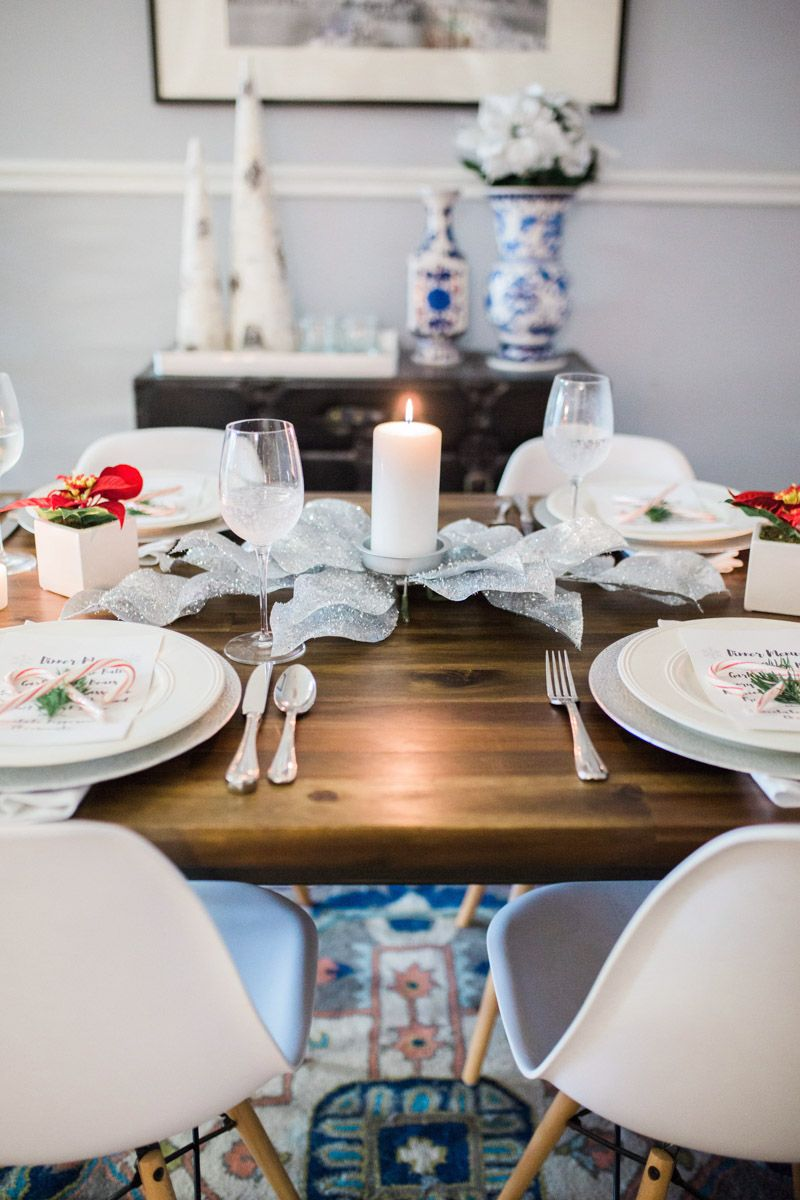 Holiday Table Setting Holiday Table Settings Holiday Dining Room Table Settings