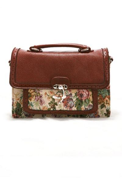Floral Embroidery Shoulder Bag