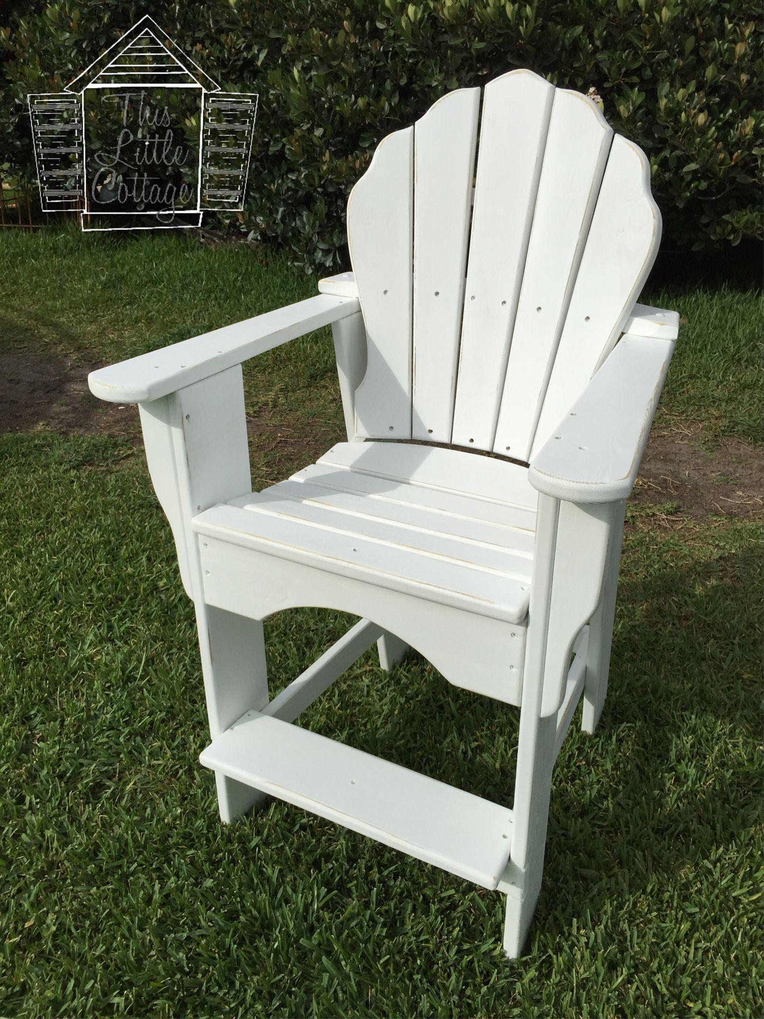 Handmade Balcony  Pub Adirondack Chair with free shipping