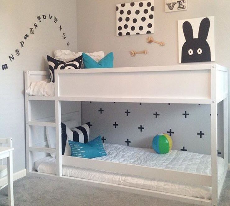 deco lit enfant ikea kura kid bedroom makes me happy pinterest ikea kura deco lit et kura. Black Bedroom Furniture Sets. Home Design Ideas