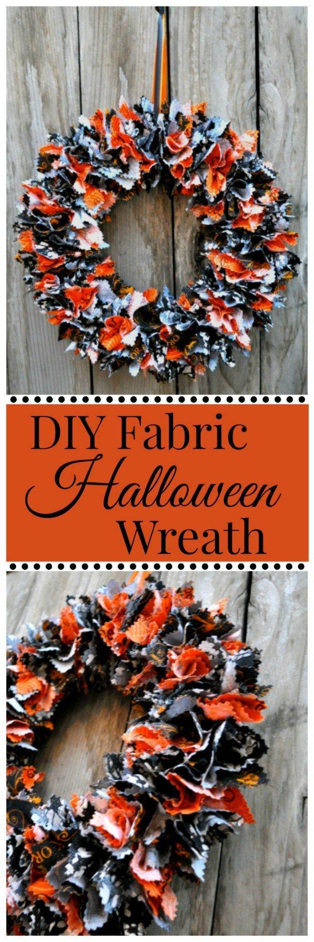 DIY Fabric Halloween Wreath Tutorial - Simple Sojourns