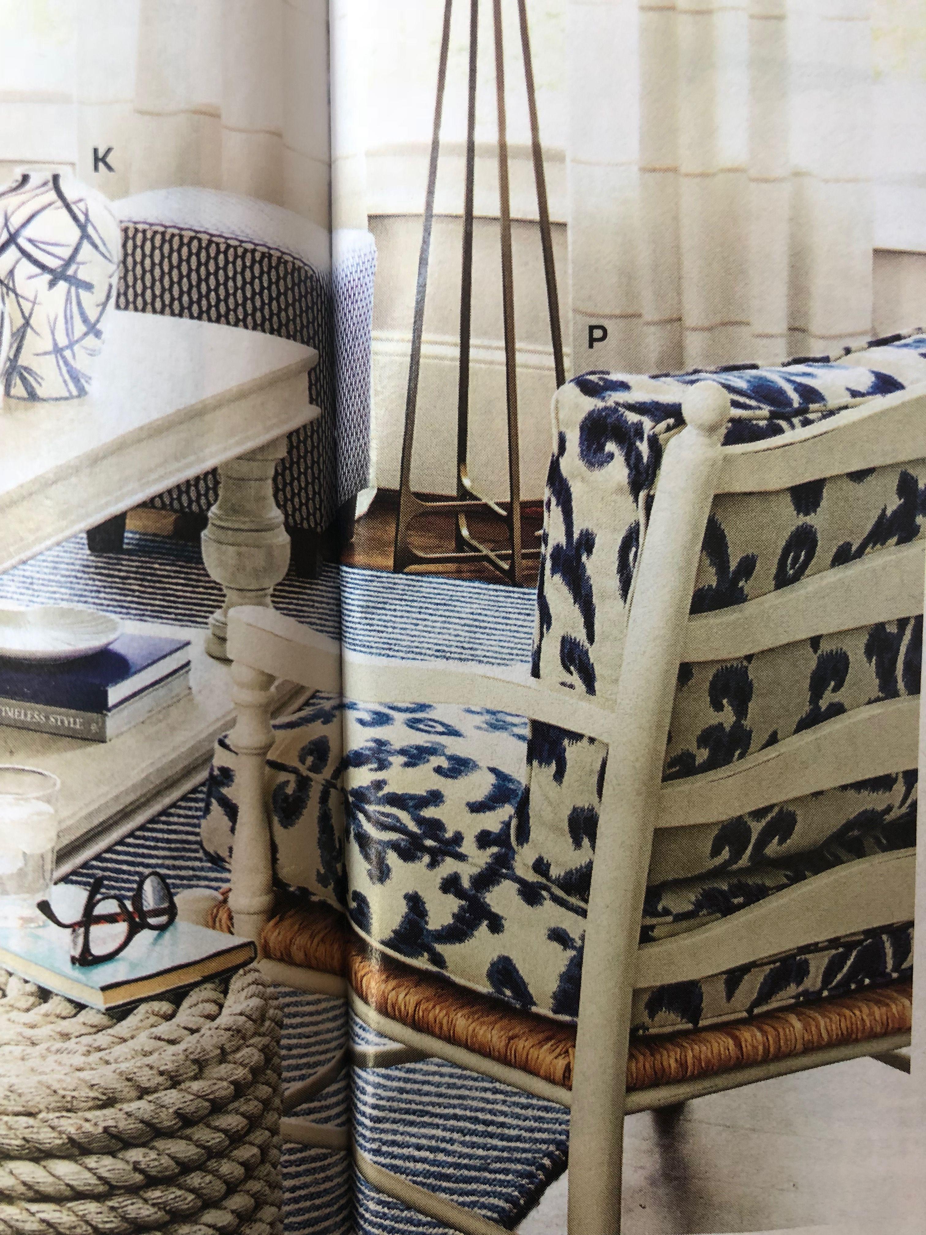 Wondrous Toulon Chair And Ottoman Ballard Designs Shown In Amal Blue Short Links Chair Design For Home Short Linksinfo