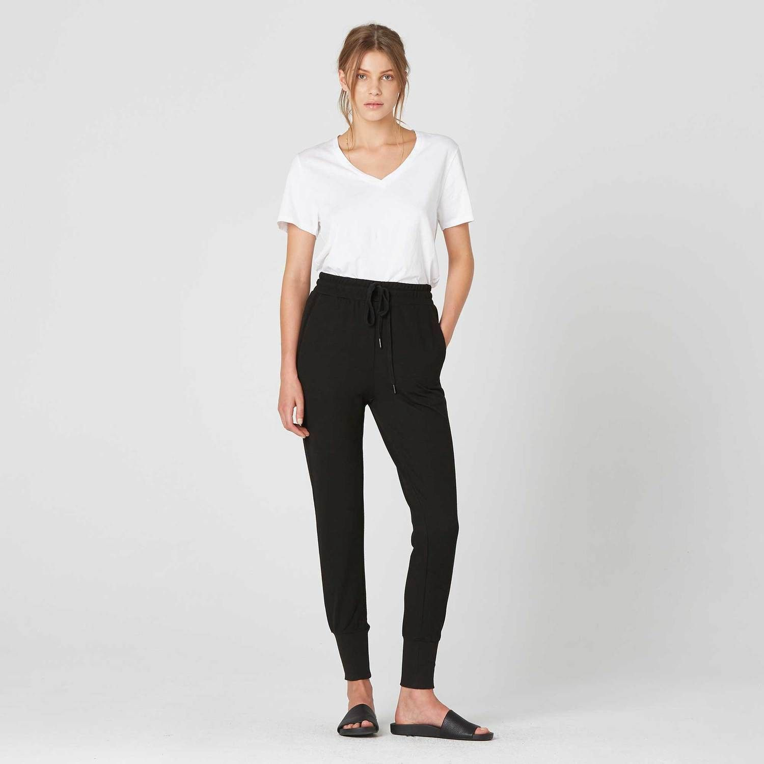 d4a566123 Womens Tapered Jogger Pants In Black by DSTLD in 2018 | Products ...