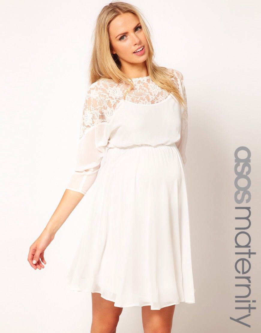 Enlarge ASOS Maternity Skater Dress With Lace Top.this Is Pretty Much The  Dress I Want