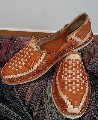 ddc4f78b9a24 Authentic Handmade Mexican huaraches Men s Closed Toe Slip On Leather  Sandals